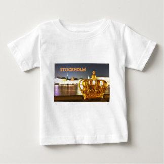 Camiseta De Bebé Estocolmo, Suecia en el navidad en la noche