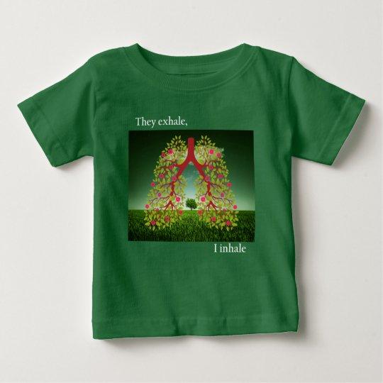 Camiseta De Bebé Exhalan, yo inhalan