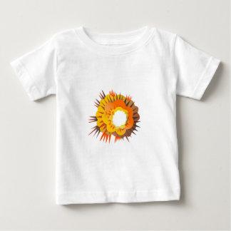 Camiseta De Bebé Explosión de la bomba retra