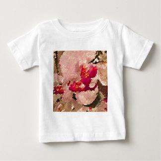 Camiseta De Bebé Extracto rojo y blanco de la orquídea