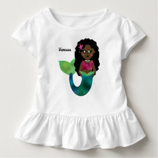 Camiseta De Bebé Falsa hoja personalizada de la sirena
