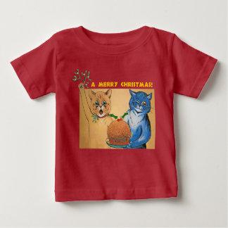 Camiseta De Bebé Felices Navidad del #holidayz de los gatos