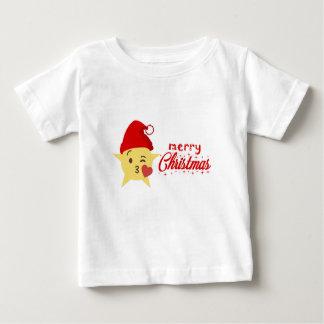 Camiseta De Bebé Felices Navidad lindas de la almohada del icono