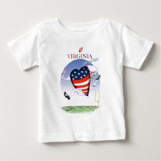 Camiseta De Bebé fernandes tony ruidosos y orgullosos de Virginia,