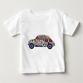 Camiseta De Bebé Fiat clásico con los cráneos del azúcar