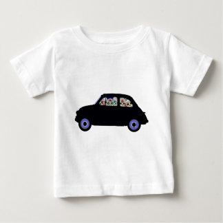 Camiseta De Bebé Fiat llenó de los cráneos del azúcar