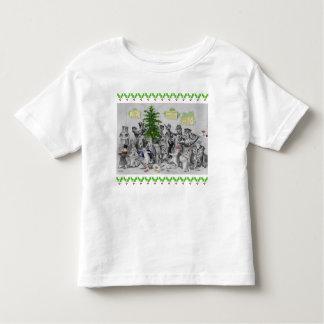 Camiseta De Bebé Fiesta de Navidad de los gatos de Louis Wain del