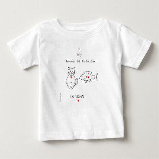 Camiseta De Bebé fish and cat