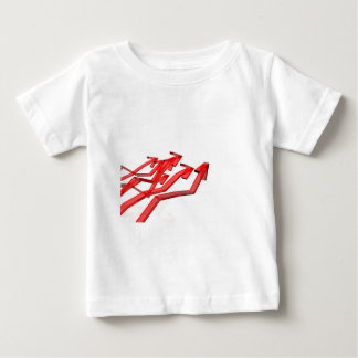 Camiseta De Bebé Flechas rojas