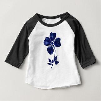 Camiseta De Bebé Flor azul