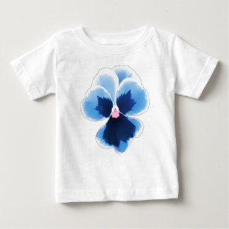 Camiseta De Bebé Flor azul 201711c del pensamiento