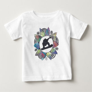 Camiseta De Bebé Flor de la montaña del Snowboarder