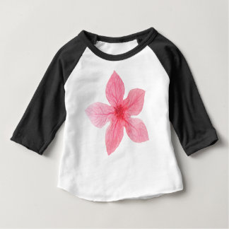 Camiseta De Bebé flor rosada de la acuarela