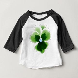 Camiseta De Bebé Flor verde 201711d del pensamiento