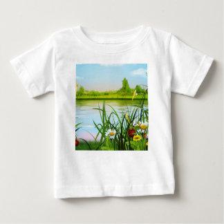 Camiseta De Bebé Floral, arte, diseño, hermoso, nuevo, moda,