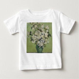 Camiseta De Bebé Florero de Vincent van Gogh de rosas que pintan