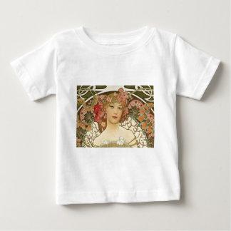 Camiseta De Bebé Flores en su pelo
