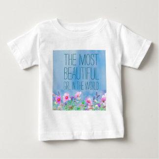 Camiseta De Bebé Flores salvajes el chica más hermoso del mundo