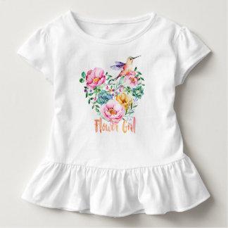 Camiseta De Bebé Florista del ramo del corazón del colibrí