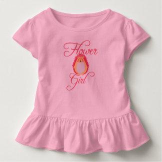 Camiseta De Bebé Florista rosado lindo del erizo