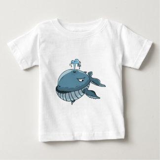 Camiseta De Bebé Flotación gigante del mar de la ballena azul del