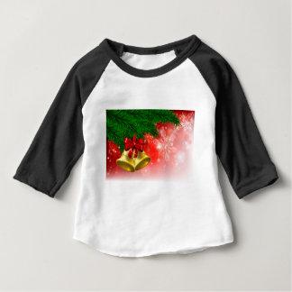 Camiseta De Bebé Fondo de Belces del árbol de navidad