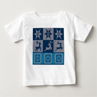 Camiseta De Bebé Fondo decorativo hecho punto