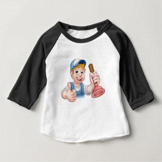 Camiseta De Bebé Fontanero de la manitas del dibujo animado que