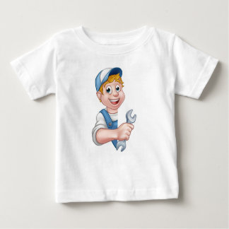 Camiseta De Bebé Fontanero o mecánico que detiene a una llave