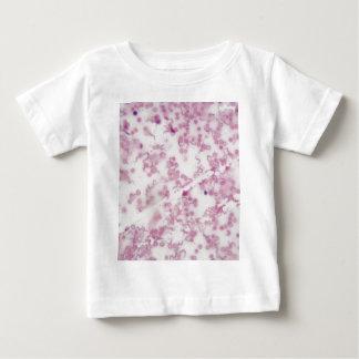 Camiseta De Bebé Foto del microscopio de la sangre humana con