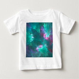 Camiseta De Bebé Fractal abstracto en una paleta fría