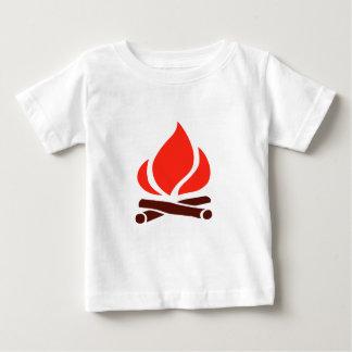 Camiseta De Bebé fuego caliente en chimenea