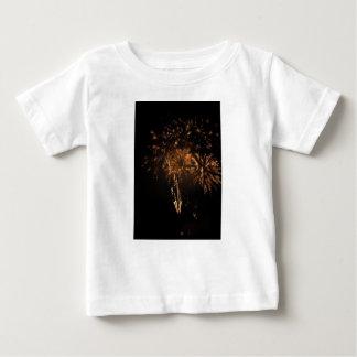 Camiseta De Bebé Fuegos artificiales coloridos de diversos colores