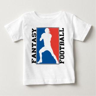 Camiseta De Bebé Fútbol de la fantasía, logotipo blanco y azul rojo