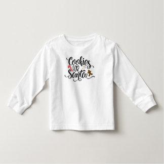 Camiseta De Bebé Galletas para la manga larga caprichosa del texto