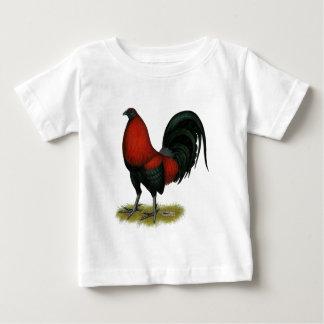 Camiseta De Bebé Gallo americano del rojo del negro del BB del