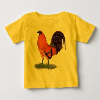 Camiseta De Bebé Gallo del rojo del jengibre del gallo de pelea