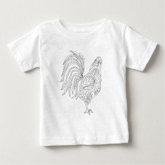Camiseta De Bebé Gallo vivo del país