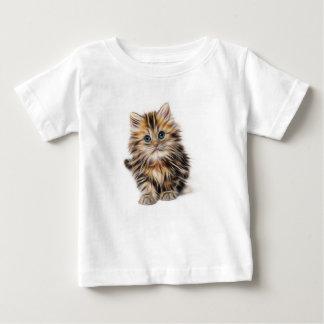 Camiseta De Bebé gama del diseño del fractal del gatito