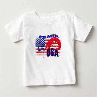 Camiseta De Bebé gamba en los E.E.U.U.