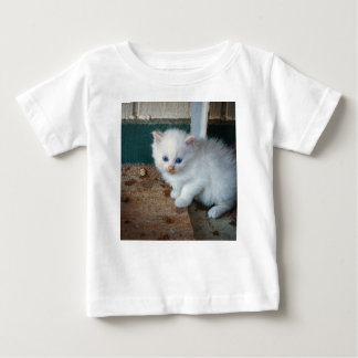 Camiseta De Bebé Gatito blanco