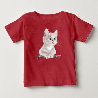 Camiseta De Bebé Gatito dulce del bolsillo