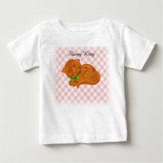 Camiseta De Bebé Gatito lindo el dormir