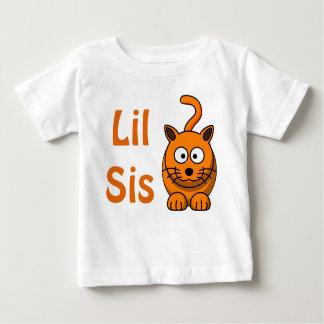 Camiseta De Bebé Gato anaranjado lindo de Lil de la hermana del