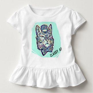 Camiseta De Bebé Gato con clase del bebé del AF en gorra, pajarita,