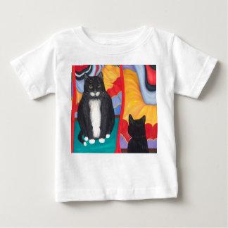 Camiseta De Bebé Gato de la grasa de la casa de diversión