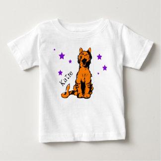 Camiseta De Bebé gato de tabby anaranjado lindo