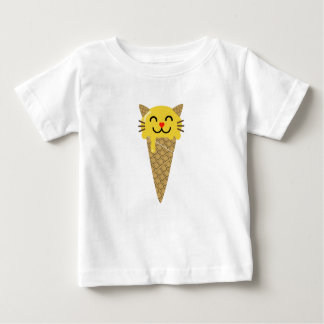 Camiseta De Bebé Gato del helado de Emoji