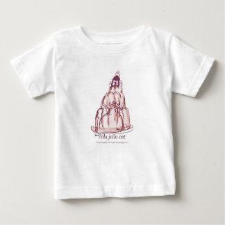 Camiseta De Bebé gato del jello de la cola de los fernandes tony