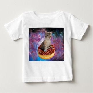 Camiseta De Bebé Gato-mascota-felino espacio-gatito-lindo del